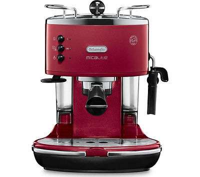 DELONGHI Icona Micalite ECOM 311.R Coffee Machine Red Stainless steel