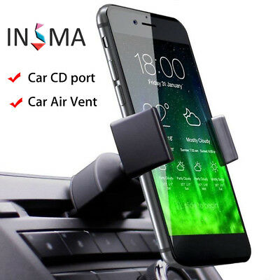 INSMA Universal 360° CD Slot / Air Vent Car Holder Mobile Phone Mount GPS PDA