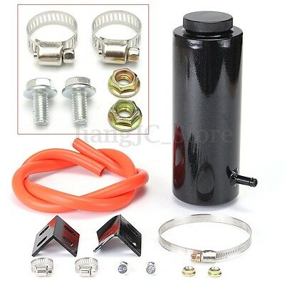 800ML Car Overflow Radiator Coolant Aluminum Catch Tank Cylinder Alloy Kit Black