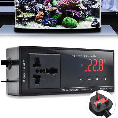 Digital Reptile Heat Incubator Thermostat Aquarium Temperature Controller Socket