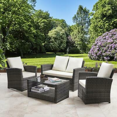 Rattan Sofa Garden Furniture Set Patio Conservatory