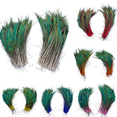 10 pcs natural peacock feather 30-35 cm 12-14 inches free shipping