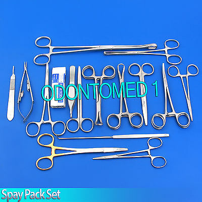 118 Instruments Spay Neuter Pack Veterinary Forceps Scissors Surgical OR Grade