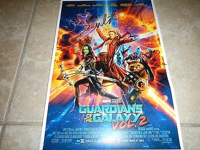 Guardians of the Galaxy 2 signed poster 11x17