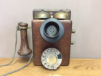 Antique Gpo 121  Wall Telephone