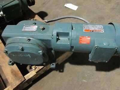 Reliance Electric Motor/gear Reducer Size 145Cv4 Ratio 60 1-1/2 Hp 1725 Rpm