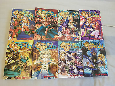 Chrono Crusades Manga Volume 1-8 Complete (English Language)