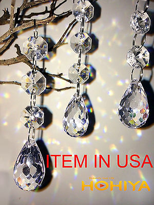 30 Christmas Clear Acrylic Crystal Glass Ball Ornaments Holiday Craft Decoration