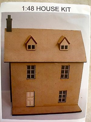 Dollhouse Miniature Kit 1:48 Scale House
