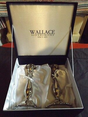 """Wallace  Baroque 9"""" Silverplated Candlestick  >> New In Box"""