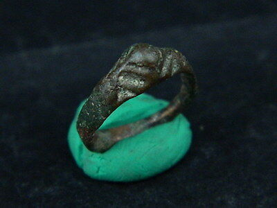 Ancient Bronze Ring Bactrian 300 BC  #BR1130