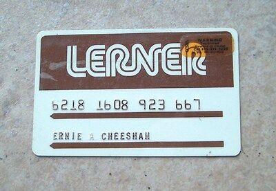 Lerner Shops Expired Vintage Credit Charge Card  FREE SHIPPING