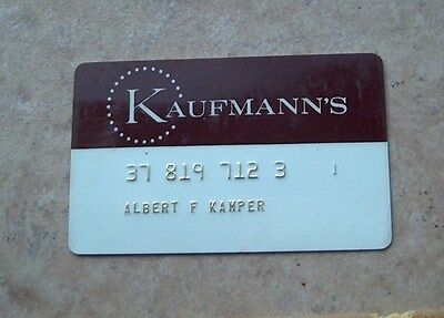 Kaufmann's Pittsburgh PA Expired Vintage Credit Charge Card  FREE SHIPPING