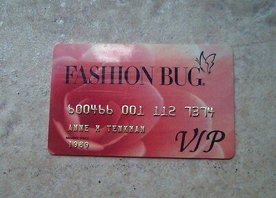 Fashion Bug Expired Vintage Credit Charge Card  FREE SHIPPING