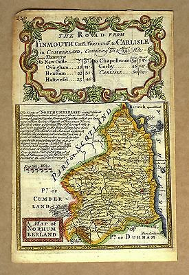 A Map of Northumberland. The Road from Tinmouth Com. Northumb. to Carlisle.