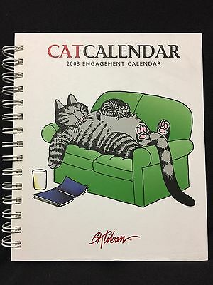 2008 Kliban Hard Back Engagement Cat Calendar SOOO Funny!!