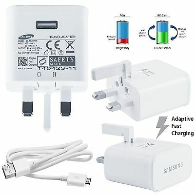 For Samsung 3 Pin UK Super Fast Mains Charger for Galaxy -White