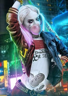 HARLEY QUINN POSTER Suicide Squad Batman Joker DC Wall Art Photo Print A3 A4