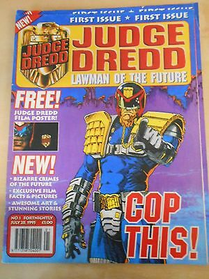Judge Dredd Lawman of the Future First issue with poster attached