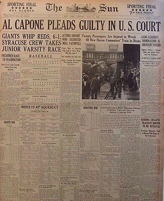 Scarface Capone PLEADS GUILTY TO Federal Tax and Rum Plots June 16 1931 B1