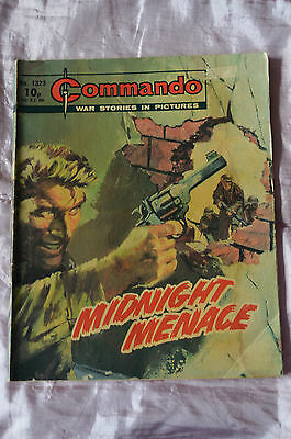 MIDNIGHT MENACE No 1323 -  COMMANDO COMIC WAR STORIES IN PICTURES