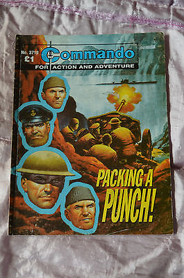 PACKING A PUNCH! No 3710 -  COMMANDO COMIC WAR STORIES IN PICTURES