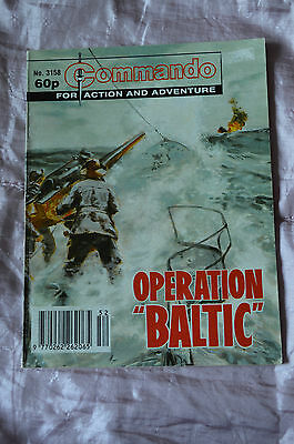 """OPERATION """"BALTIC"""" No 3158 -  COMMANDO COMIC WAR STORIES IN PICTURES"""