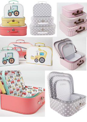 New Set of 3 Daisy / Truck / Stars Storage Suitcase Set Gift Sass and Belle