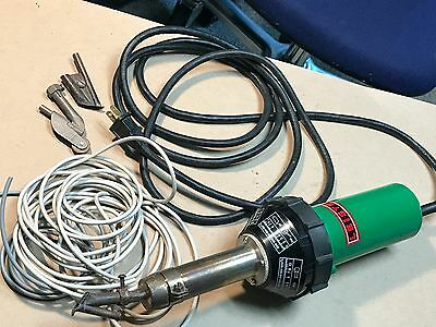 Leister Triac S Heat Gun CH-6060 Welder Hot Air Blower great condition