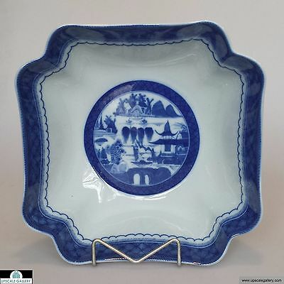 "Mottahedeh Blue Canton Square Salad Bowl 10.25""  *NEW*"