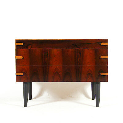 Retro Vintage Danish Scandinavian Wide Rosewood Low Chest of Drawers 50s 60s 70s