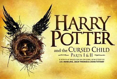 7/22 2017 - 4 Harry Potter and the Cursed Child Tickets (Parts 1 and 2), London