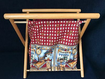 Sewing Knitting Crochet Folding Basket