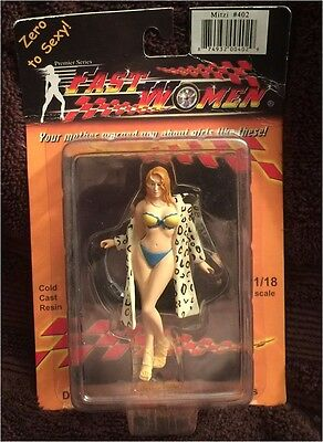 Fast Women 1/18 Diorama Figurine. #402 Mitzi in Leopard Coat