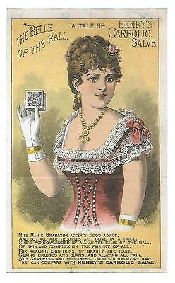 Belle Of The Ball Carbolic Salve Skin Cure Before & After Metamorphic Trade Card