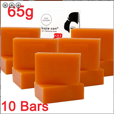5 Packs Of Kojie San Skin Lightening Kojic Acid Soap ( 2 Bars Per Pack)