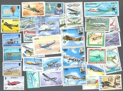 Aviation 1000 all different collection-planes-aircraft stamps and min sheets