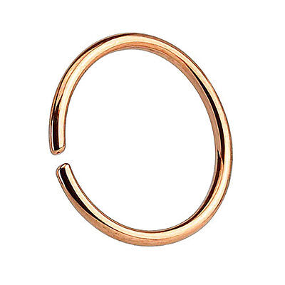Nasenpiercing Septum Piercing Continuous Ring 925 Silber Roségold