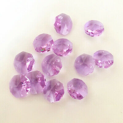 20PCS 14mm purple Crystal Octagonal beads Decoration Crystal chandelier parts