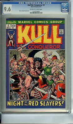 Kull The Conqueror #4 Cgc 9.6 Oww Pages John Severin Art