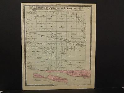 Nebraska Dawson County Map Overton Township c.1904  J10#40