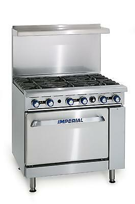 Imperial Range IR-6 Six Burners W/ Oven Natural Gas Restaurant Stove
