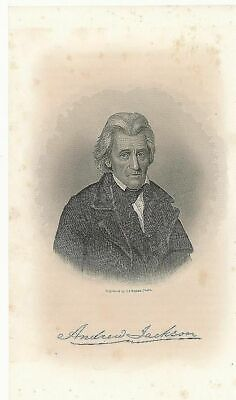 Andrew Jackson 1868 fine antique engraved historical US President portrait