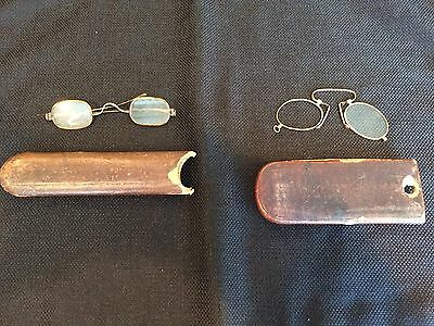Antique-Vintage-Eyeglass Lot of Two with Cases