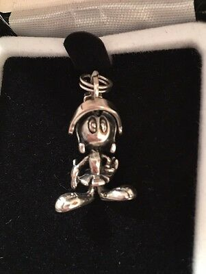 LIMITED EDITION Warner Bros Looney Tunes Marvin Sterling Silver Charm NEW RARE!