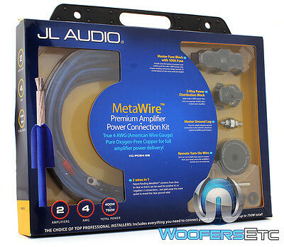 Jl Audio Xc-Pcs4-2B 4 & 8 Gauge Dual Amplifier 100% Pure Copper Wire Install Kit