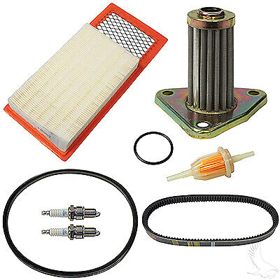 Ezgo Golf Cart TXT Tune Up Kit Drive & Starter Belt Air,Gas,Oil Filter & Plugs