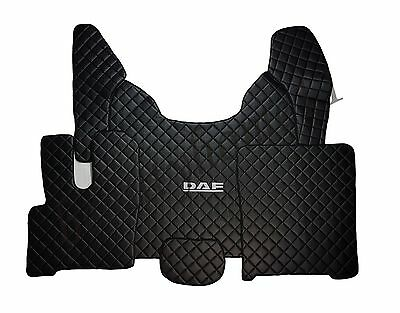 Set of Floor Mats Covers For NEW DAF XF 106 AUTOMAT LHDrive BLACK Eco Leather