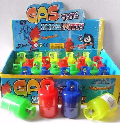 Bulk Lot x 12 Gas Tank Cylinder Noise Putty 6cm Kids Novelty Party Favor Toy NEW