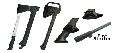 "NEW 14"" Survival Tactical Axe + Fire Starter + Hand Saw with Sheath"